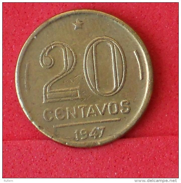 BRAZIL  20  CENTAVOS  1947   KM# 556a  -    (Nº06823) - Brazilië