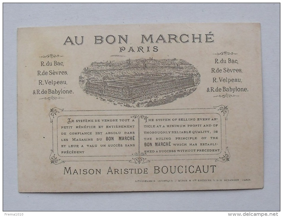 """Chromo AU BON MARCHE: """"Le Jardin De Bébé"""" - Fillettes, Jardinage... - MINOT - Au Bon Marché"""