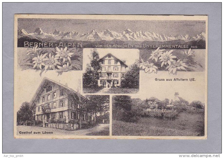BE Gruss Aus Affoltern I/E. 1915.V.23. Affoltern  Foto Trub - BE Berne