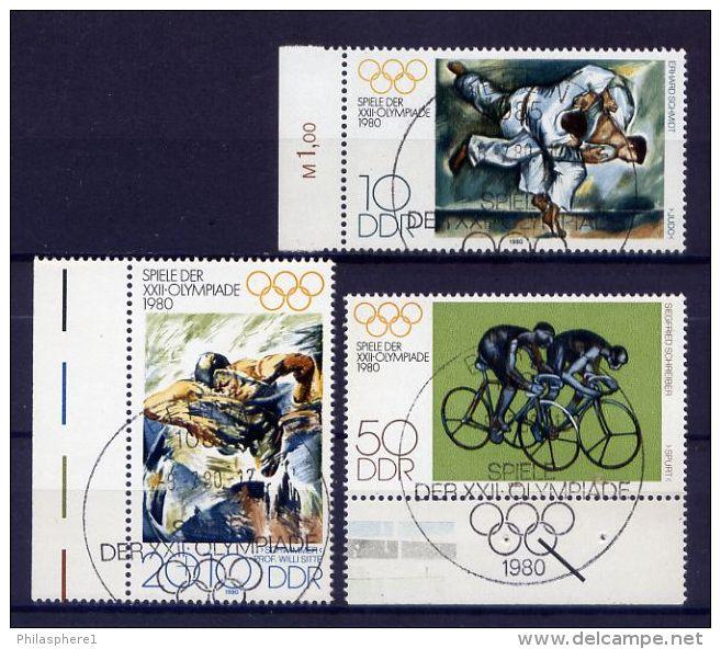 DDR Nr.2528/30          O  Used       (15992) ( Jahr: 1980 ) Rand - DDR