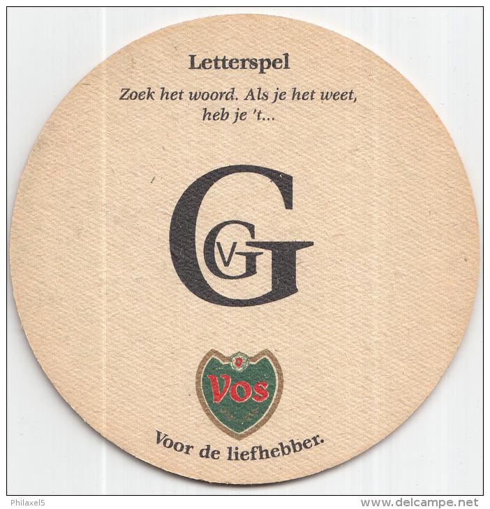 Stadsbrouwerij De Ridder - Maastricht - Vos - Letterspel - Ongebruikt - Bierviltjes