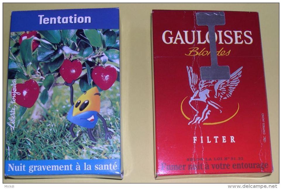 GAULOISES BLONDES CIGARETTES 2 BOITES PUBLICITE SEITA - 17 X 11,5 X 4,5 Cm - 4 SCANS - Tabac (objets Liés)