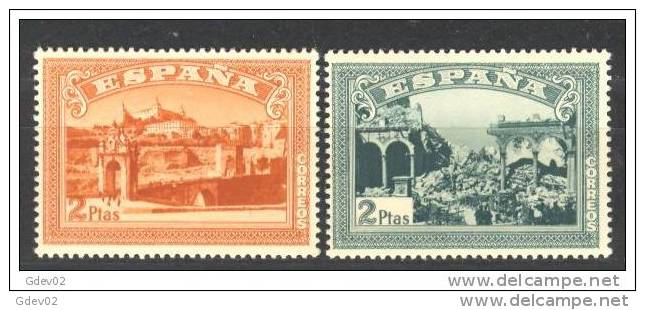 ESSH836-L3627TARO.España . Spain  Espagne.ANIVERSARIO ALZAMIENTO NACIONAL TOLEDO. SH 1937(Ed.836/7SH) Sin Charnela.LUJO - Otros