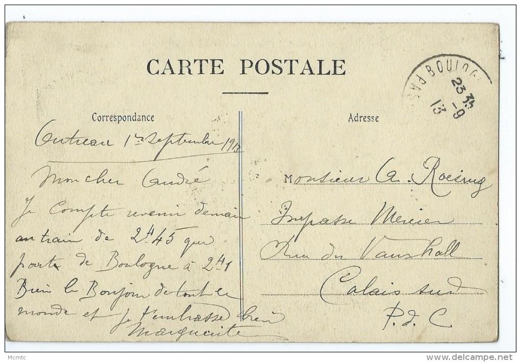 CPA - Environs De Boulogne Sur Mer - Outreau - La Rue Principale Et Le Château De M.Lonquéty - France