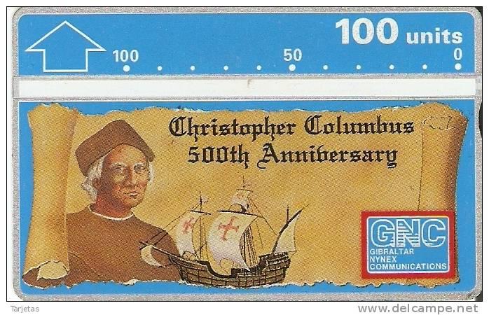 9 TARJETA DE GIBRALTAR DE CRISTOBAL COLON - Gibraltar