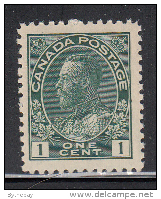 Canada MNH Scott #104c 1c George V Admiral Issue, Deep Blue Green - Neufs