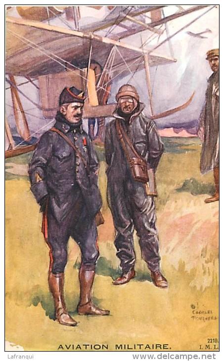 Guerre 1914-18- Ref K115- Illustrateur Charles Fouqueray -aviation Militaire -avions -aviateurs  - - War 1914-18