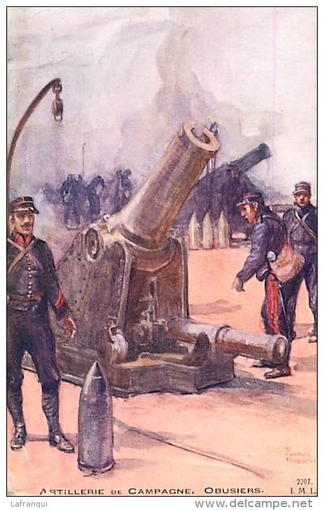Guerre 1914-18- Ref K110- Illustrateur Charles Fouqueray -materiel Canons -canon - Artillerie De Campagne -obusiers    - - War 1914-18