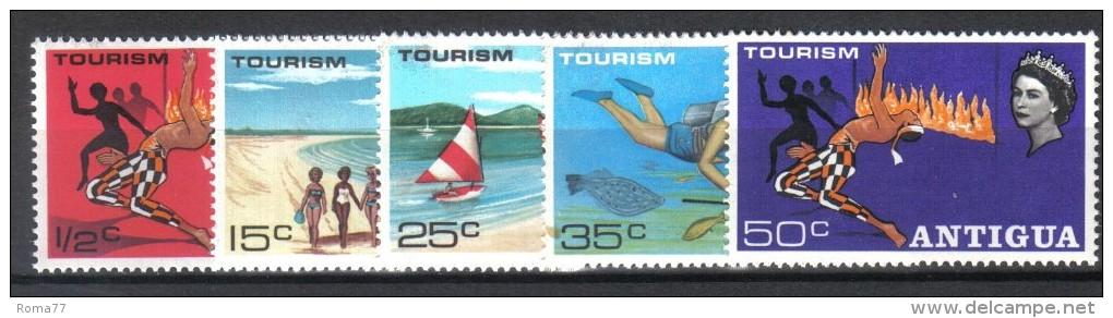 W224 - ANTIGUA 1968, Yvert Il N. 195/198  ** MNH - Antigua & Barbuda (...-1981)