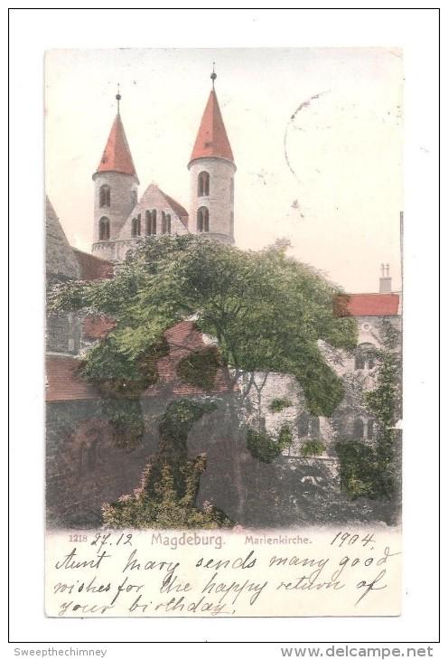 Magdeburg Marienkirche Magdeburg POSTMARK +  STAMP BRIEFMARKEN SENT TO DULWICH - Magdeburg
