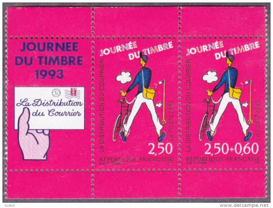 France Philatélie N° 2793 Aa ** Le Facteur - Journée Du Timbre 96 - Paire De Carnet + Vignette - Tag Der Briefmarke