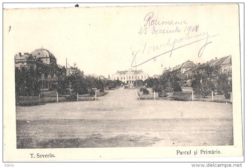 Roumanie - SEVERIN Parcul Si Primaria - Unused - Roumanie