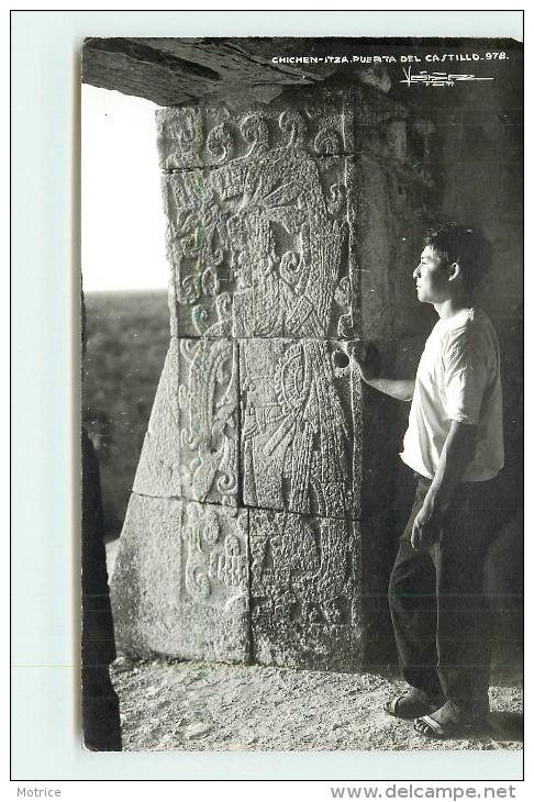 CHICHEN ITZA PUERT DEL CASTILLO. Temple (carte Photo ). - Mexique