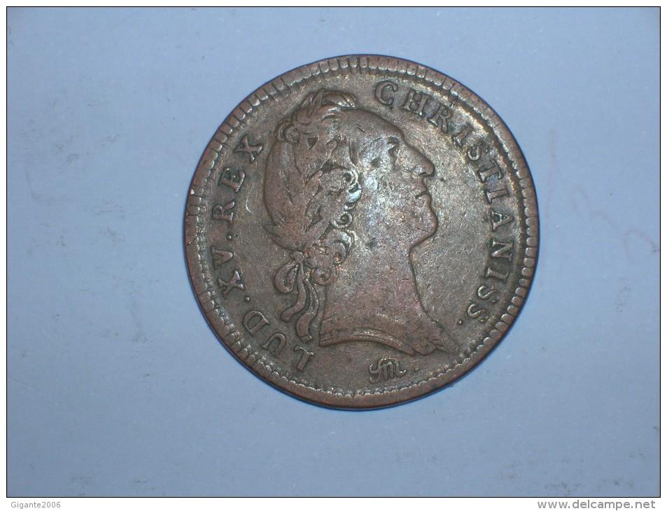 Jeton Real. Louis XV. Tresor Royal 1754 (5306) - Monarquía / Nobleza