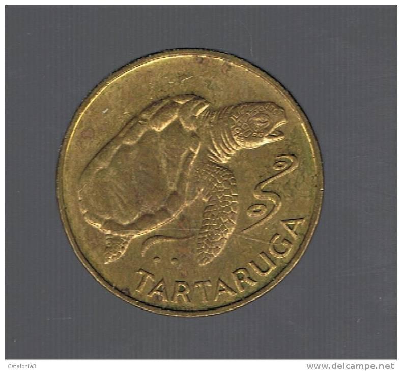 CABO VERDE - 1 Escudo 1994  Tartaruga Sea Turtle Animal Coin - Cap Vert