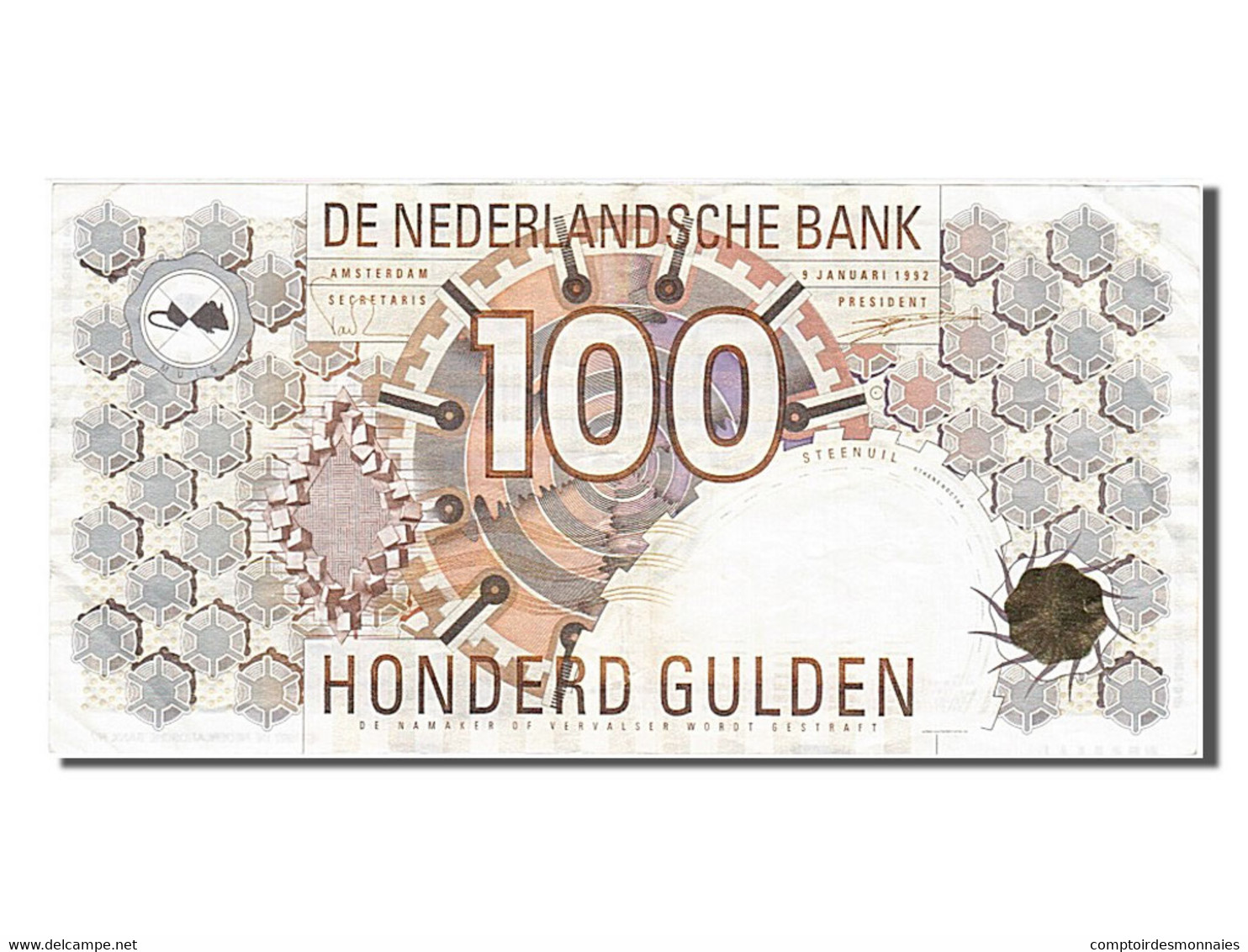 Pays-Bas, 100 Gulden, Type 1989-1997 - [2] 1815-… : Royaume Des Pays-Bas