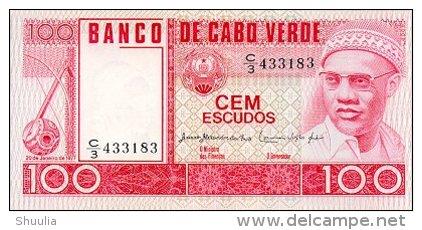 Cape Verde 100 Escudos 1977 Pick 54 UNC - Cap Verde