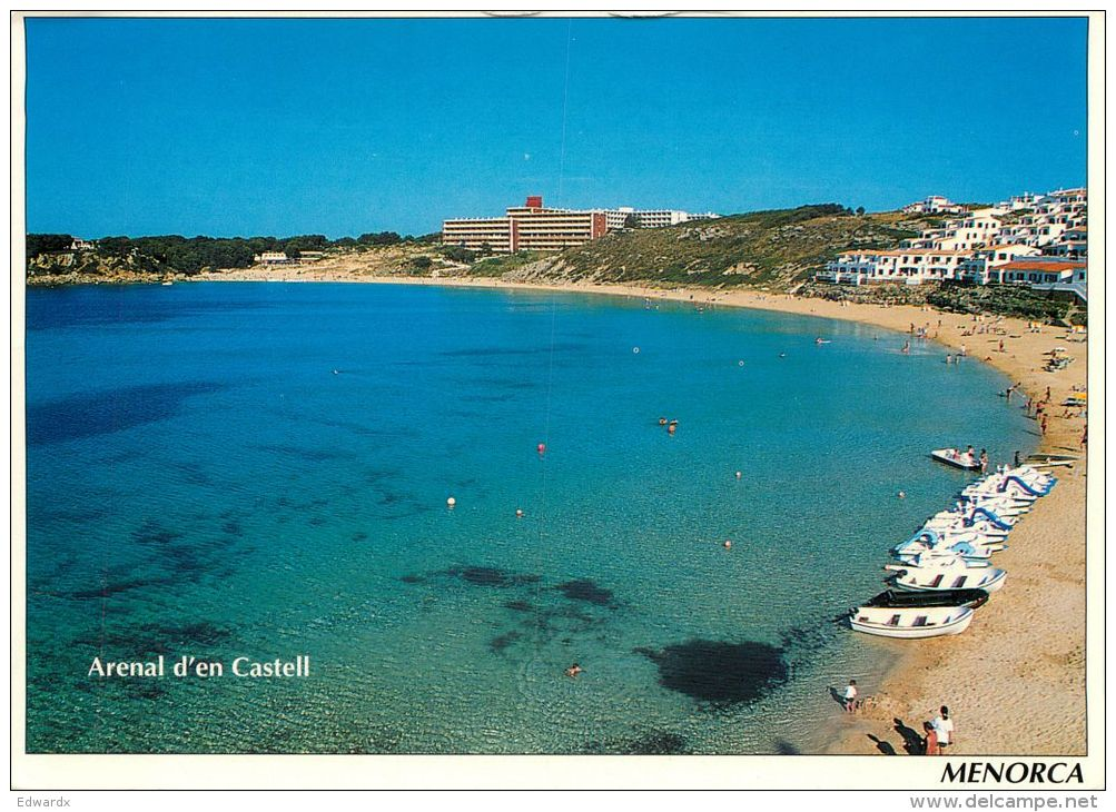 Arenal, Menorca, Spain Postcard Used Posted To UK 1999 Nice Stamp - Menorca