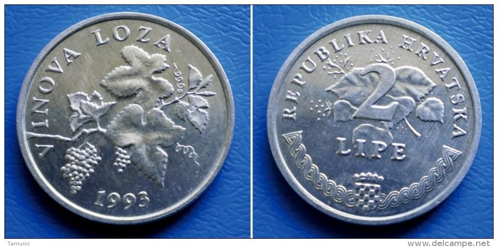 CROATIA  2 Lipe 1993 GRAPE VINE VINOVA LOZA - Kroatien