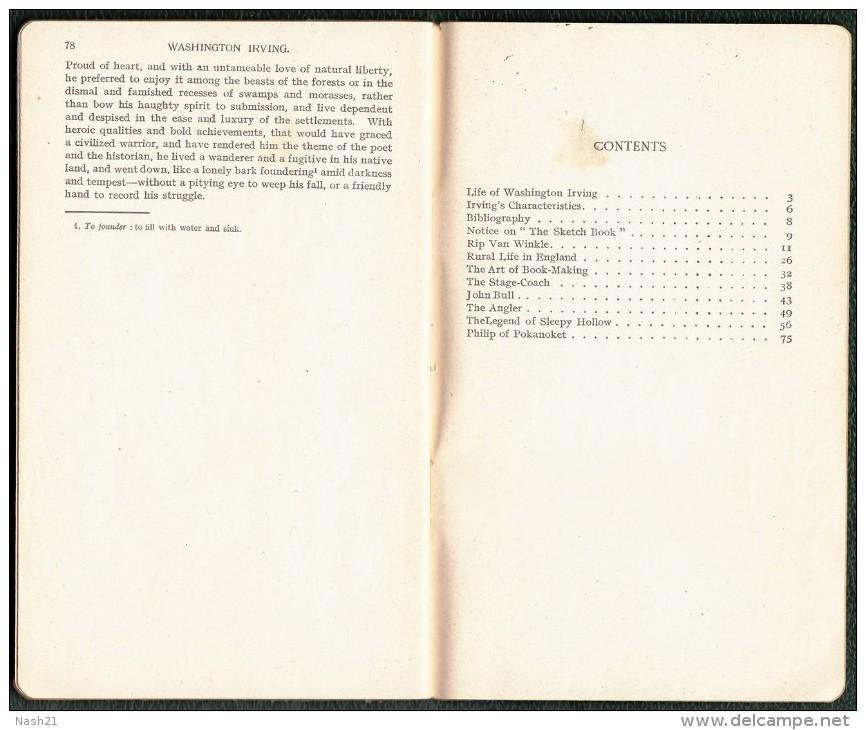 The Sketch Book De Washington IRVING - 78 Pages - - Livres, BD, Revues