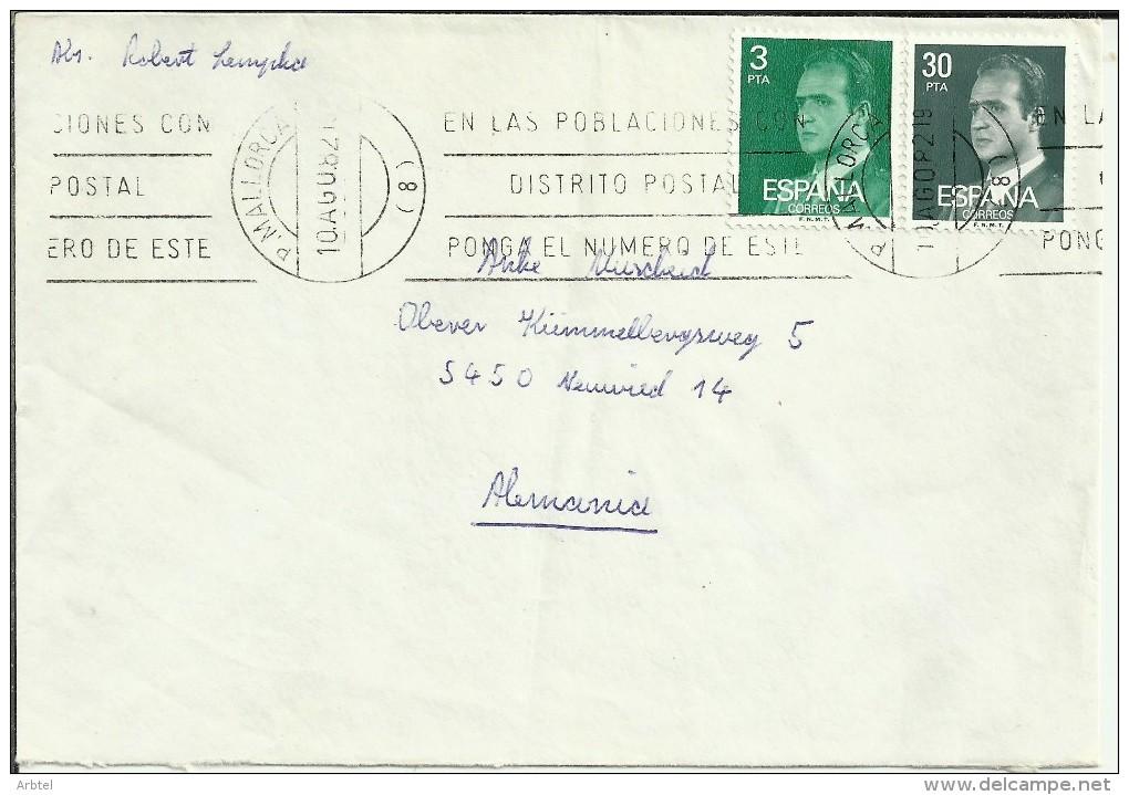 PALMA MALLORCA TP CON SELLOS BASICA JUAN CARLOS I - 1931-Hoy: 2ª República - ... Juan Carlos I