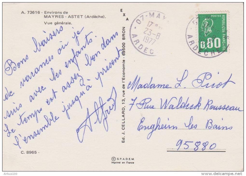 07 - MAYRES ASTET - Vue Générale - Circulée 1977 - 2 Scans - - France