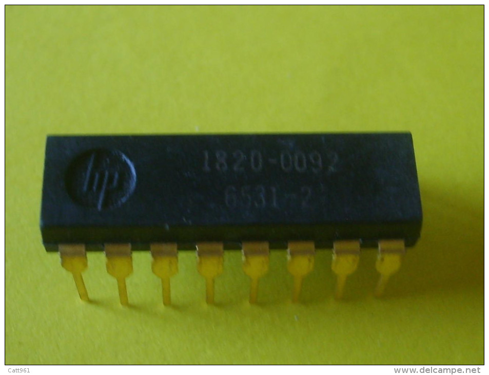 ELECTRONIC QTY 1  IC HP 1820-0092 NIXIE DRIVER -  VERY RARE GOLD PINS VINTAGE - NEW UNUSED - INTEGRATED CIRCUIT - Circuiti Integrati