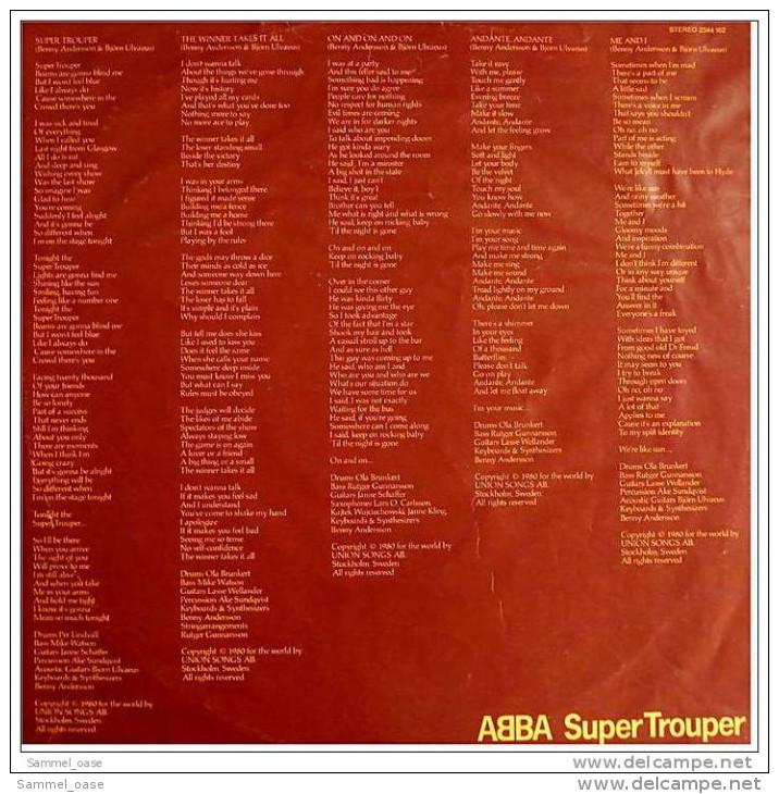 LP Vinyl  -  ABBA Super Trouper -  Von 1980 - Disco, Pop