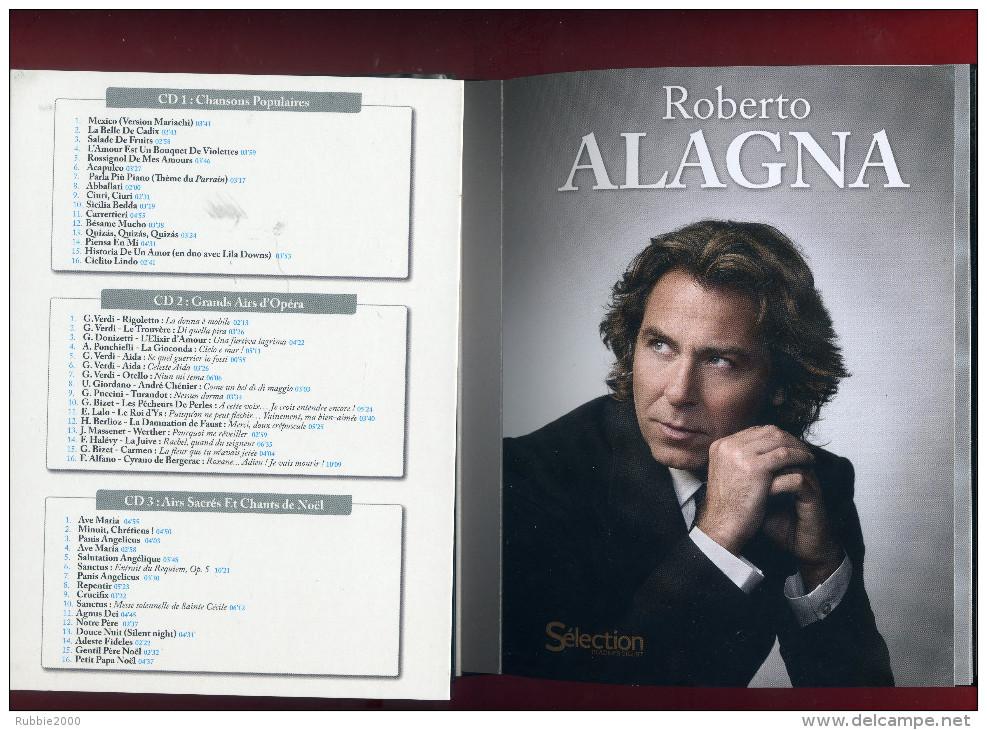 ROBERTO ALAGNA 2012 CD 1 CHANSONS POPULAIRES CD 2 OPERA CD 3 AIRS SACRES DVD 1 ET 2 SICILIEN LIVE - Musik-DVD's