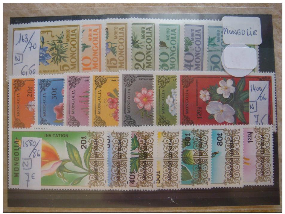 """MONGOLIE (1), Beau LOT De Timbres """"Faune Et Flore"""" COTE Totale + De 300€ ; VT157 - Mongolei"""
