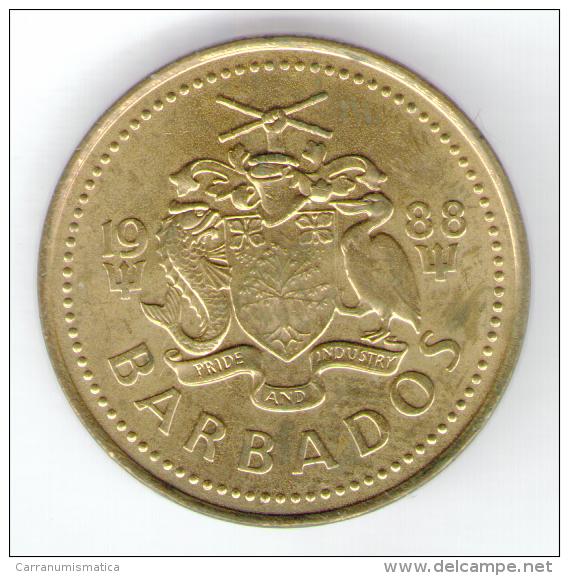 BARBADOS 5 CENTS 1988 - Barbades