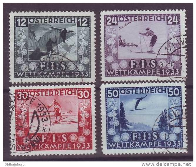 Österreich 1933, ANK 551- 554, Fis I Einwandfrei Gestempelt, ANK 670.- € - 1918-1945 1. Republik