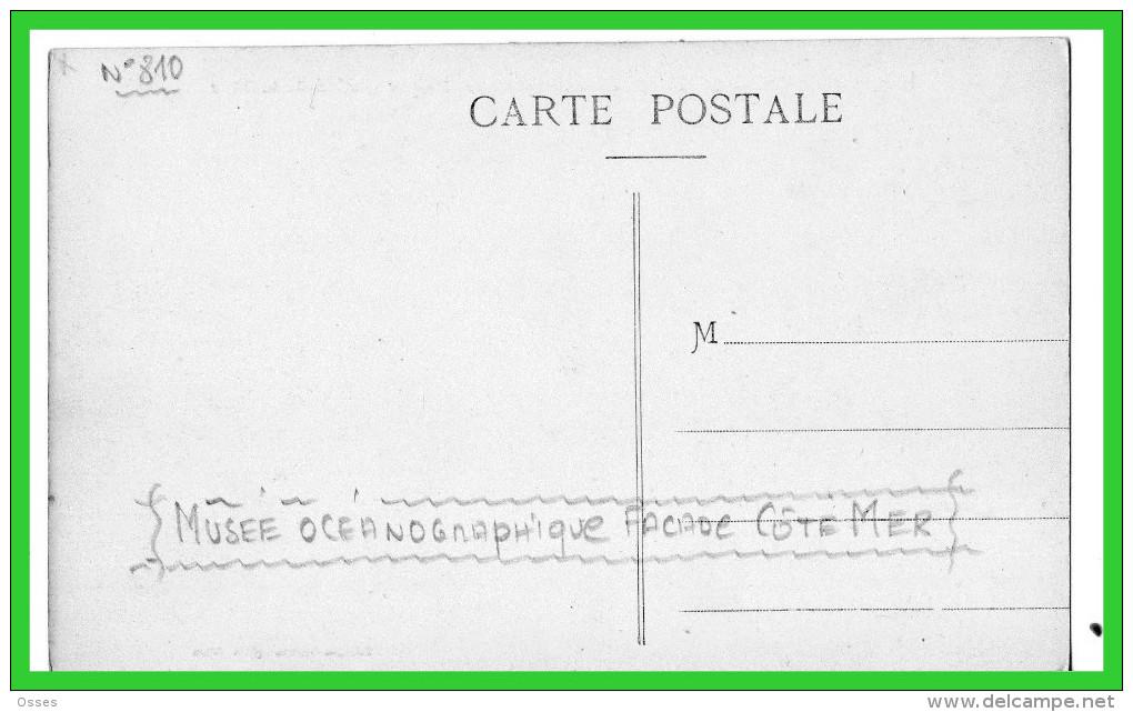 -QUATRE C.P.A MONACO -Musée Océanographique-Nouvel Institut - (rectos Versos) - Prince's Palace