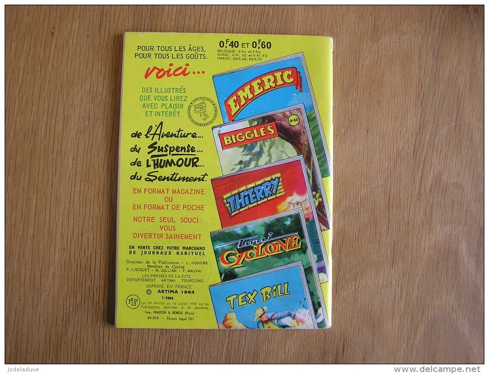 COMMANDO N° 54 Mensuel ARTIMA Petit Format Année 60 - Autres