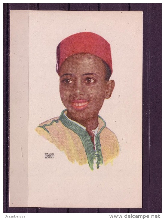 Künstler AK Erwin Hubert/ Tetuan : Jungenportrait (2) - Künstlerkarten