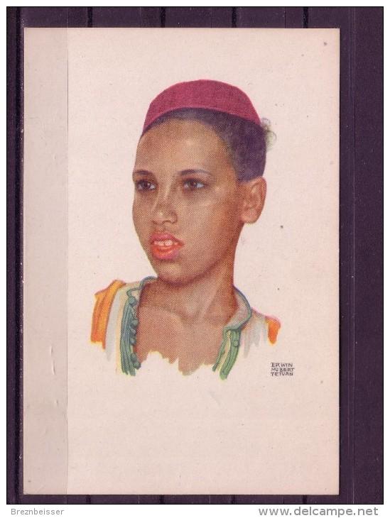 Künstler AK Erwin Hubert/ Tetuan : Jungenportrait - Künstlerkarten