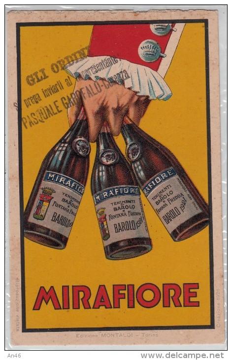 """PUBBLICITA´ ADVERTISING REKLAM WERBUNG-""""MIRAFIORE-TENIMENTI DI BAROLO E FONTANA FREDDA BAROLO 1921 - Pubblicitari"""