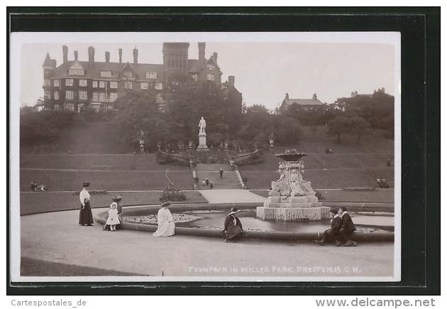 Pc Preston, Fountain In Miller Park - England