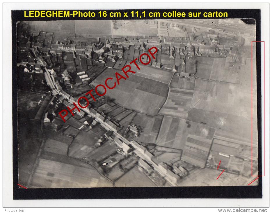 LEDEGEM-Photo Aerienne Allemande Sur Carton-Guerre 14-18-1WK-BELGIEN-Flandern- - Ledegem