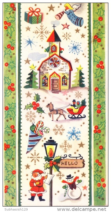 VERY OLD & VINTAGE GREETINGS CARD - CHRISTMAS  AND NEW YEAR GREETINGS - Magnets