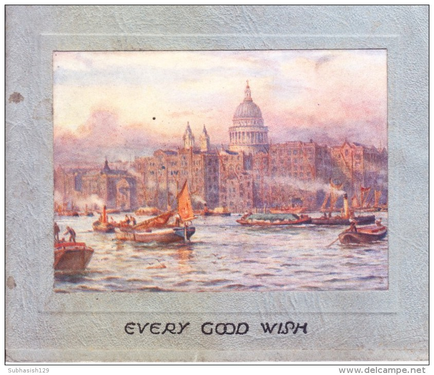 VERY OLD & VINTAGE GREETINGS CARD - CHRISTMAS AND NEW YEAR GREETINGS - PRINTED IN ENGLAND - Magnets