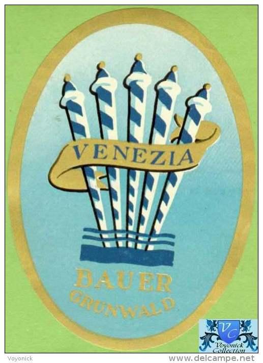 Voyo HOTEL BAUER GRUNWALD Venezia Italy Hotel Label 1960s Vintage - Hotel Labels