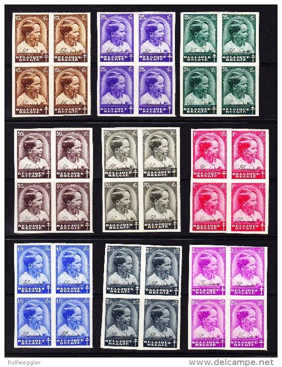 Belgien - 1936 - COB 438 - 445 + 446 Alle ** Ungezähnt - SPECIMEN - - Neufs