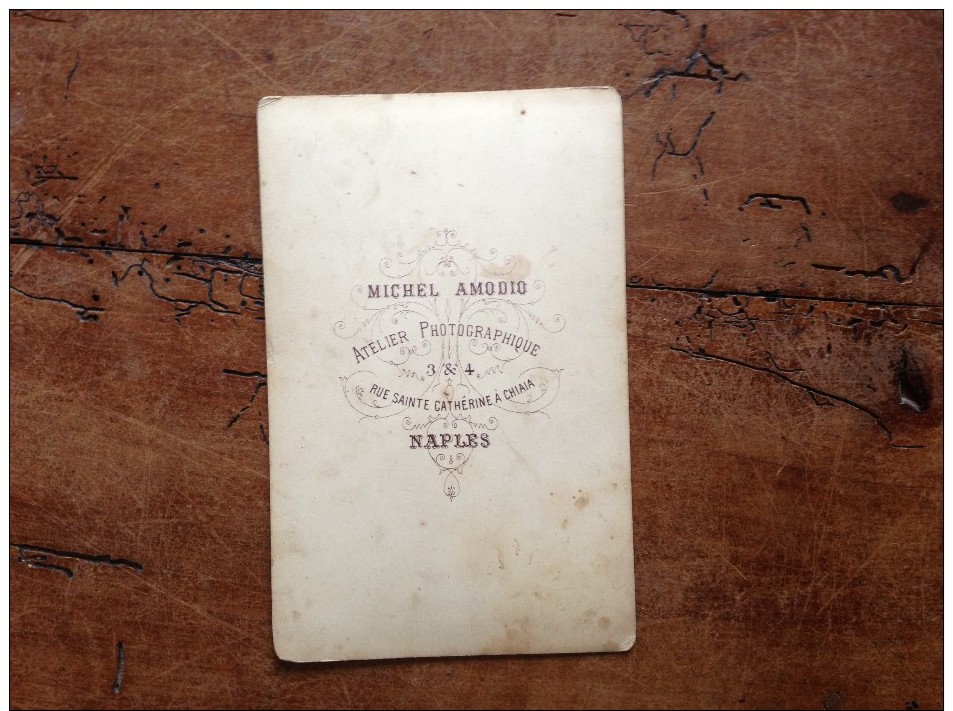 Photographie Ancienne Naples Port Et Vésuve De Michel Amodio - Photographs