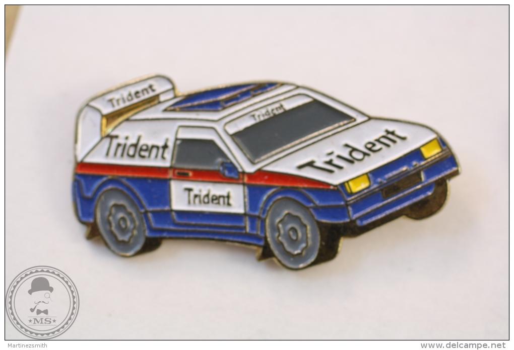 Rally Car Trident Advertising - Pin Badge #PLS - Otros
