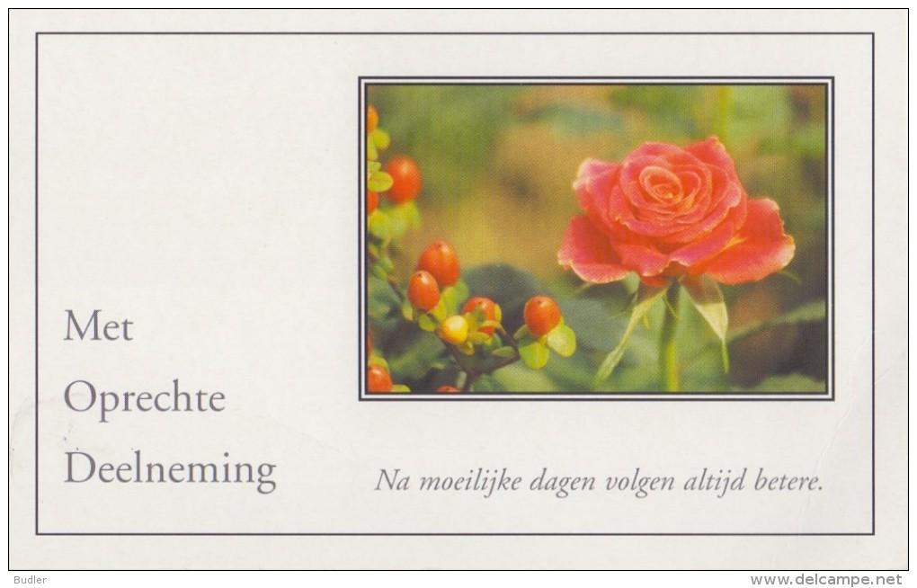 ## Met Oprechte Deelneming/(Sincères Condoléances) ##: OVERLIJDEN,DÉCÈS,ROOS,ROSE, - Begrafenis
