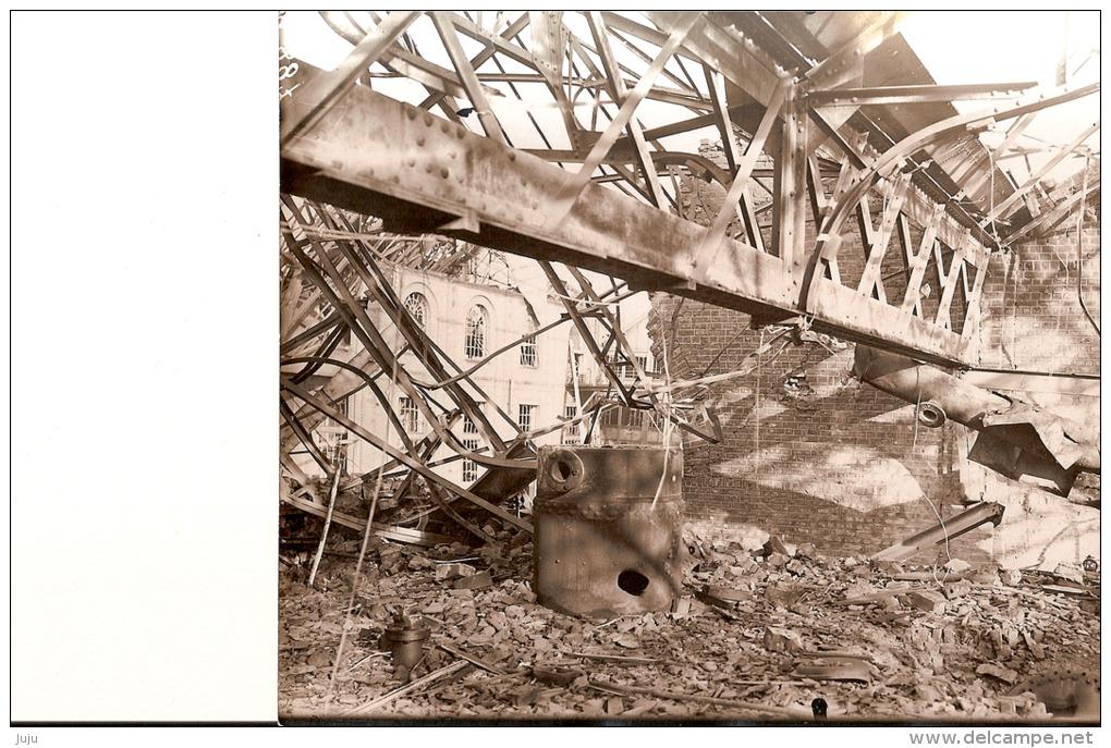 59 Nord: Photo Originale 18x12 Des Mines D´Aniche,fosse Gayant. Salle Des Chaudières Détruites - Foto