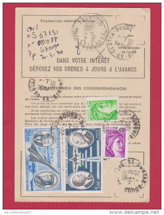 ORDRE DE REEXPEDITION  TEMPORAIRE  //  POUR CESTAS  //  12/1/1980 - Postdokumente