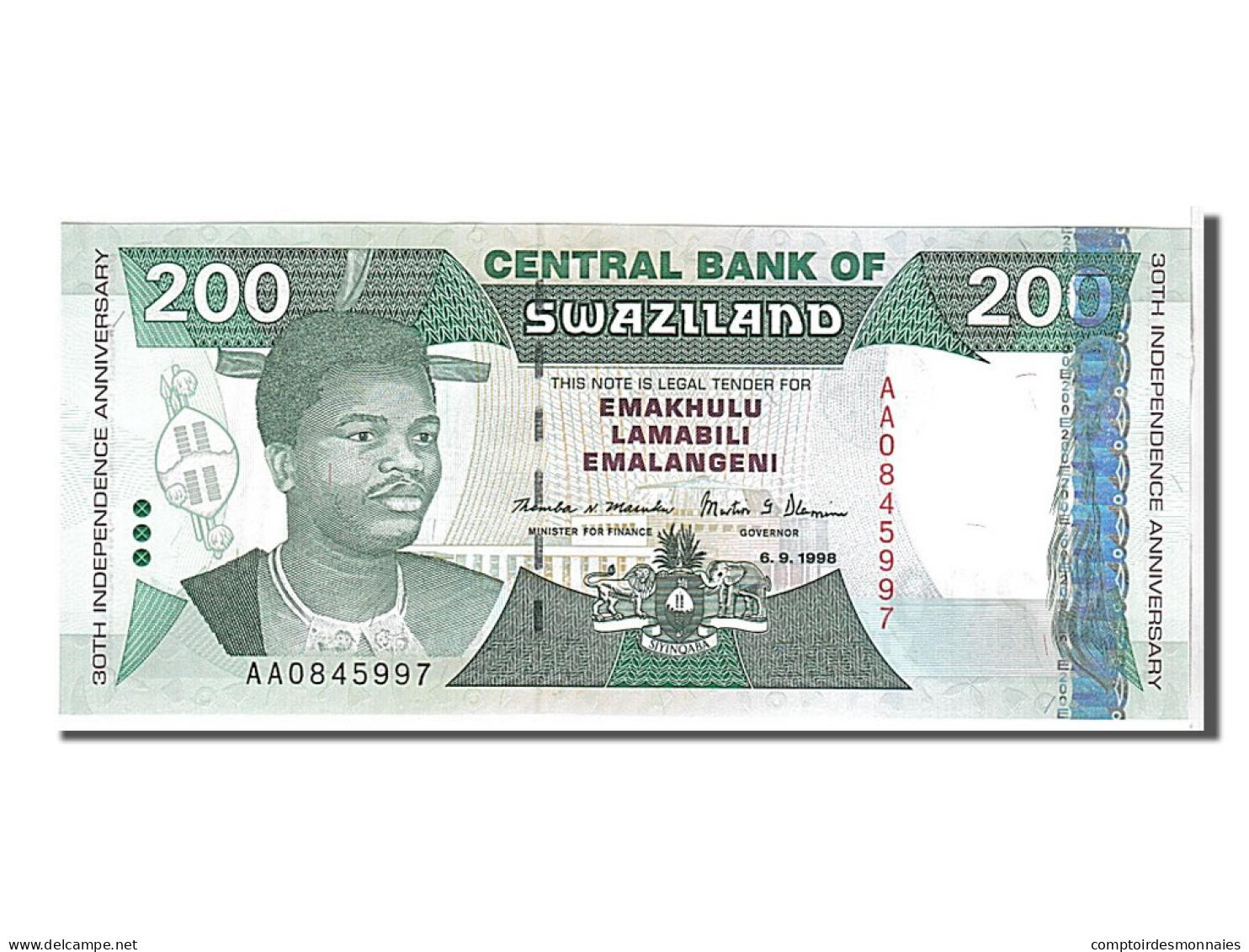 [#108353] Swaziland, 200 Emalangeni Type Roi Mswati III - Swaziland