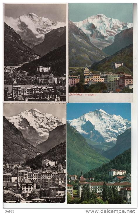 Interlaken - Lot Von 28 Postkarten ° Interlaken- Lot De 28 Cartes Postale - 5 - 99 Cartes
